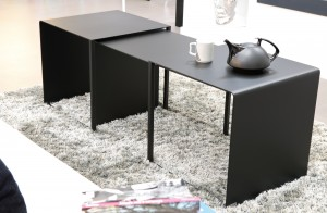 Table modulable avec ses 2 consoles (L max 150x l 50 x H 50 cm)